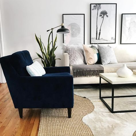 Dark Navy Chair With Cream Sofa Velvet Chairs Living Room Blue Chairs Living Room Blue Velvet Chair Living Rooms