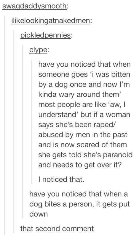 This wake-up call about the way we treat rape victims.   31 Tumblr Posts That Will Make Feminists Stand Up And Cheer