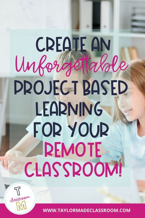 Yes, you can make project based learning successful in your distance learning class. In this PBL, students write, illust Inquiry Based Learning, Social Emotional Learning, Project Based Learning, Learning Resources, Early Learning, Teaching Tools, Teaching Art, Ms Project, Middle School Ela
