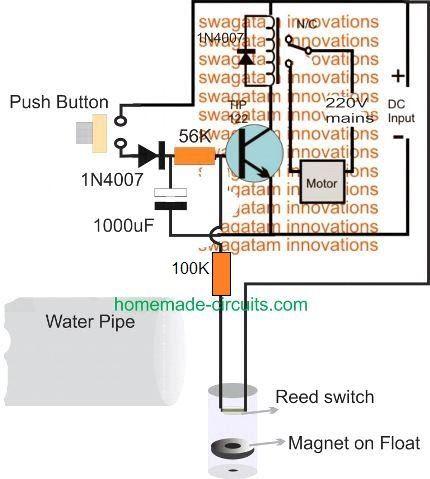 5 Useful Motor Dry Run Protector Circuits Explained Water Pump