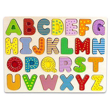 Imagination Generation Professor Poplar S Wooden Alphabet Letters Puzzle Board Sensory Tactile L Wooden Alphabet Puzzle Wooden Alphabet Letters Wooden Alphabet