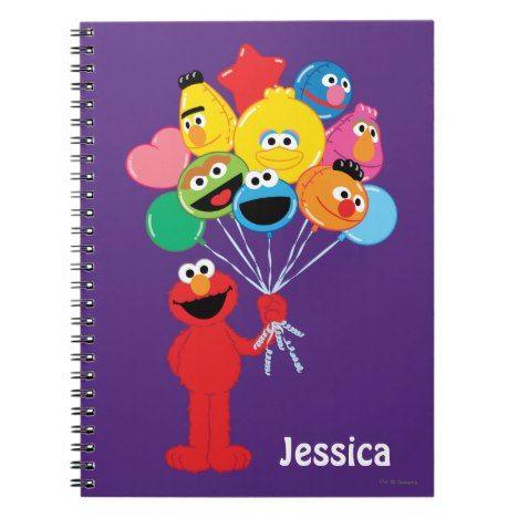 Elmo Balloons Add Your Name Notebook Zazzle Com Elmo