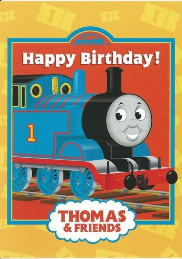 Thomas Happy Birthday Card Happy Birthday Greeting Card Happy Birthday Cards Thomas The Train Birthday Party