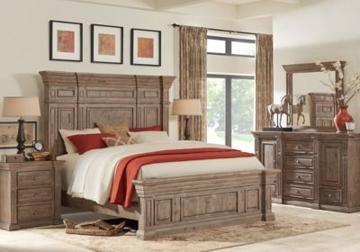 Pine Manor Pine 7 Pc King Panel Bedroom King Bedroom Sets