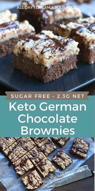 German Chocolate Brownies, Chocolate Topping, Chocolate Truffles, Chocolate Covered, Ketogenic Desserts, Diabetic Desserts, Köstliche Desserts, Low Carb Desserts, Dessert Recipes