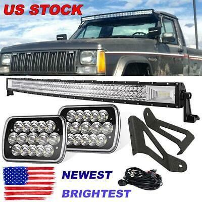 Ad Ebay Set For Jeep Cherokee Xj 50 Inch Led Light Bar 7x6 Headlights Mounting Bracket Led Light Bars Jeep Cherokee Jeep Cherokee Xj