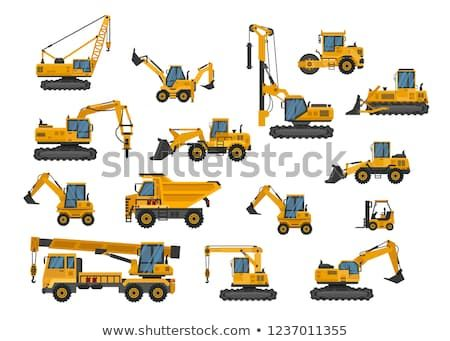 Big Set Of Icons Construction Work Building Machinery Special