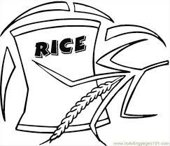 Image Result For Rice Color Sheet Coloring Pages Cute Coloring