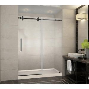 Langham 60 In X 32 In X 77 5 In Frameless Sliding Shower Door In Oil Rubbed Bronze With R Frameless Sliding Shower Doors Frameless Shower Doors Shower Doors