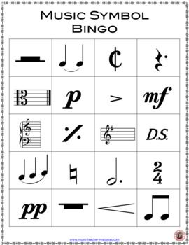 Music Bingo: Music Symbols | Music Education | Music bingo, Music