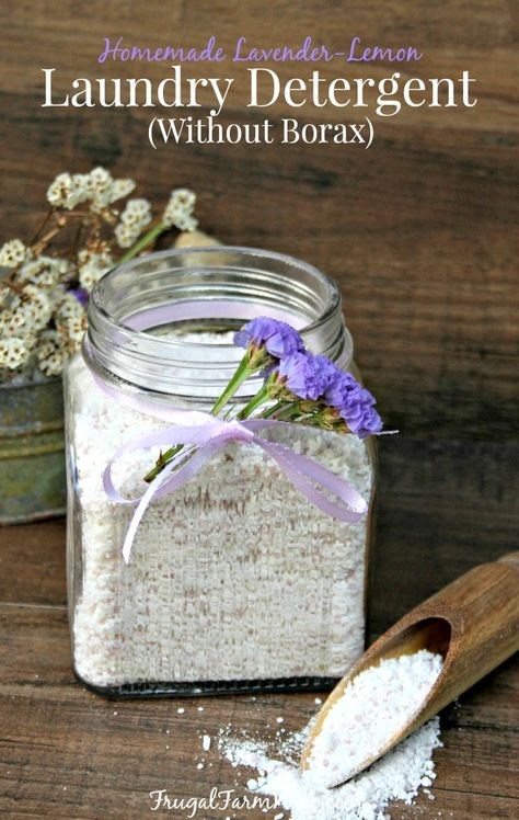 Lavender Lemon Homemade Laundry Detergent Without Borax Looking for an easy homemade laundry detergent recipe? This Lavendar-Lemon detergent is amazing, and no Borax needed! Laundry Detergent Recipe, Natural Laundry Detergent, Powder Laundry Detergent, Homemade Laundry Detergent, Borax Laundry, Laundry Hacks, Homemade Cleaning Products, Homemade Soap Recipes, Cleaning Recipes