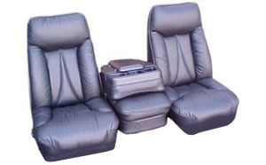 Replacement truck seats for factory seats with external seat