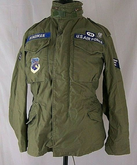 USAF OG-107 M-65 Coat Cold Weather Field Jacket Small R DLA100-72-C-1202 Alpha