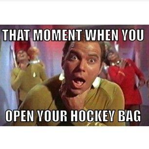 If You Think My Attitude Stinks Hockey Smell Hockey Bag Hockey