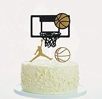 Amazon Com Soccerene Basketball Cake Toppers Cupcake Toppers Orange Gold Black Set Of 3 300 Gram In 2020 Basketball Cake Basketball Birthday Cake Sports Cake Topper