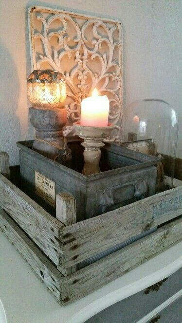 #kratje #dekistenkoning #hout #wood #kistje #kist #brocante  #interior #candles