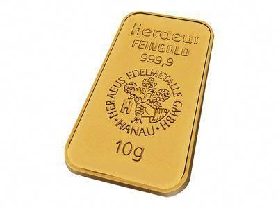 Heraeus 10 Gram Gold Bullion Bar 999 9 Fine Goldbullion Gold Bullion Bars Gold Bullion Coins Gold Bullion