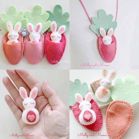 Photo of Idées de Pâques avec artisanat en feutre