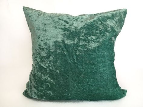 Teal Velvet pillow cover 26x26, throw