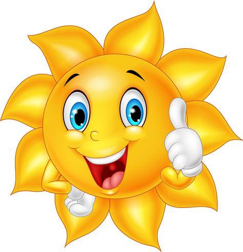 Cartoon sun smiling face vectors 07