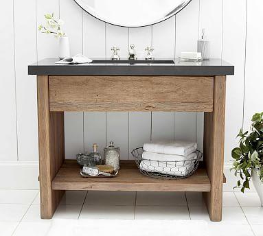 Abbott 36 Single Sink Vanity Pottery Barn In 2020 Single Sink Vanity Vanity Sink Custom Bathroom Vanity