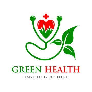 Green Love Health Logo Doctor Logo Design Health Logo Doctors Logo