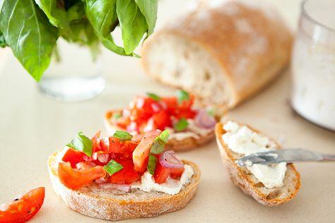 tomato bruschetta with whipped feta