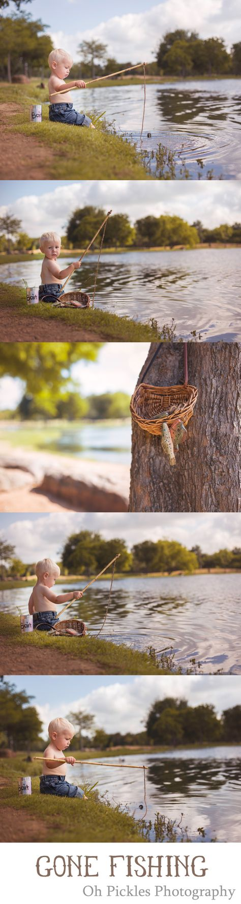 Fishing themed shoot. Very cute for the little guys in our lives. I would love to do this one again. There isn't a whole lot of little boy photo shoots around.