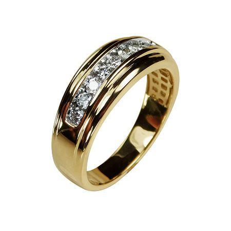 Mens 8mm 1 2 Ct T W Genuine White Diamond 10k Gold Wedding Band Mens Gold Diamond Rings Gold Wedding Band Mens Gold