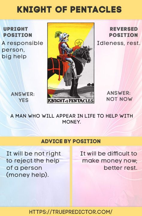 The Knight of Pentacles tarot card meanings