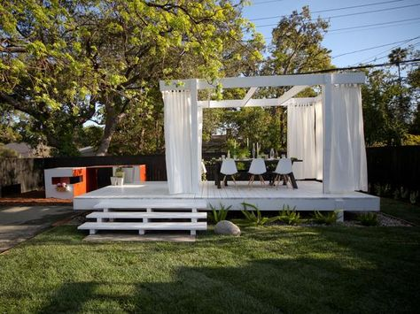 Outdoor Dining Areas and Decks: Alfresco, Elevated - Hot Backyard Design Ideas to Try Now on HGTV