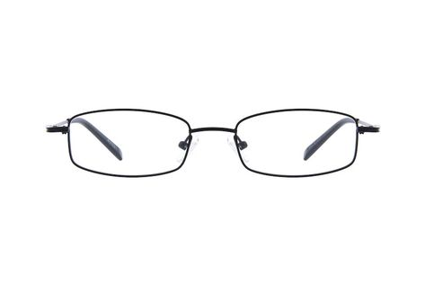 040b5b09ee Black Metal-Alloy Rectangular Eyeglasses  411521