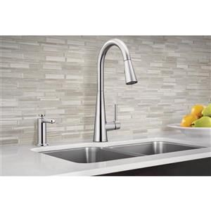 Moen Sleek Collection Pulldown Kitchen Faucet Chrome Lowe S Canada In 2020 Chrome Kitchen Faucet Transitional Kitchen Kitchen Faucet