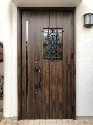 玄関ドアリフォームを兵庫で行うきたむらのビフォーアフター 玄関ドア ドア 玄関