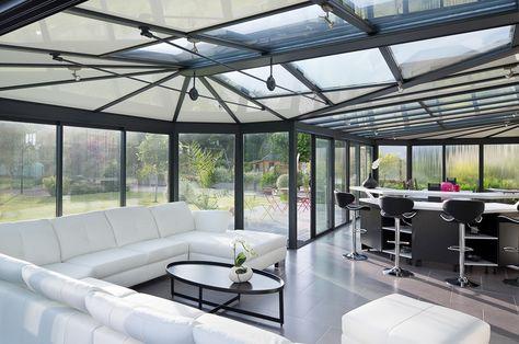 7 best Veranda sejour images on Pinterest Architecture, Atelier - maison avec toit en verre