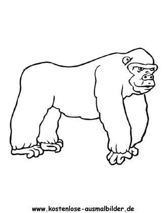 Ausmalbild Gorilla Ausdrucken Ausmalbilder Ausmalbilder Tiere Ausmalen