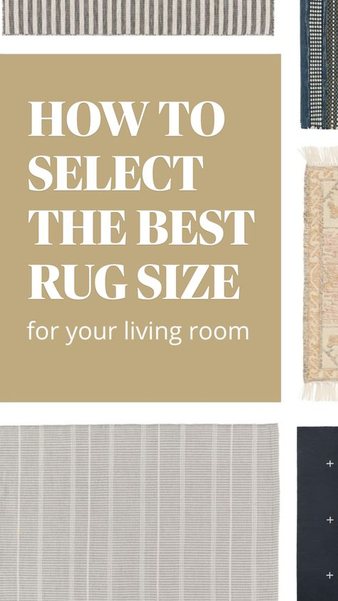 How To Select The Best Size Rug For Your Living Room