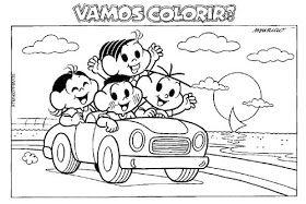 Espaco Educar 100 Desenhos Da Turma Da Monica Para Colorir