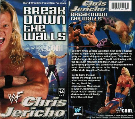 World Wrestling Federation (#WWF) Break Down The Walls Chris Jericho VHS available for sale