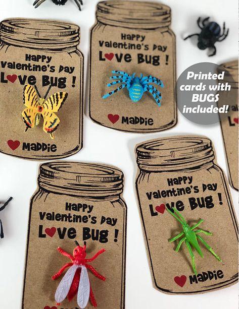 love bug valentine card bug valentines card for kids boys