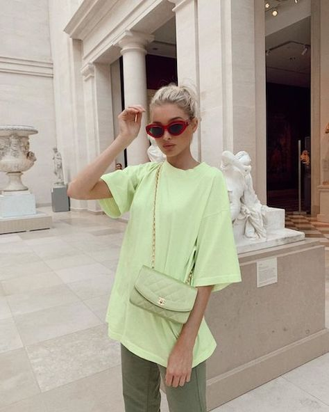 Elsa Hosk Decked Out In One Of Summer's Hottest Colors | Celebrity Style Guide