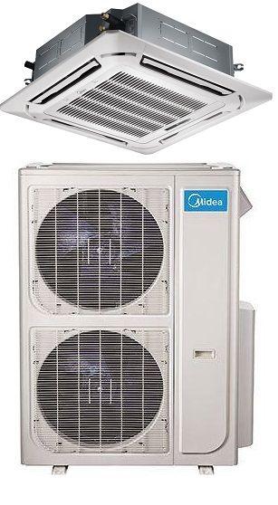 Heats Cools In Minisplitwarehouse Com Get A Midea 48000 Btu 16 8 Seer Ceiling Cassette Mini Split H Heat Pump Heat Pump Air Conditioner Air Conditioner Units
