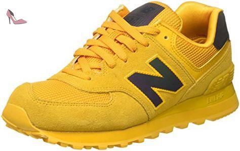 basket jaune femme new balance