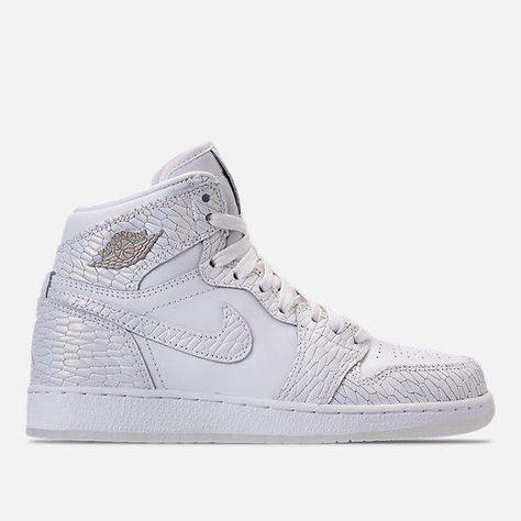 5d93a4129c4e6d Nike Girls  Grade School Air Jordan Retro 1 High Premium Heiress Collection  (3.5y - 9.5y) Basketball Shoes