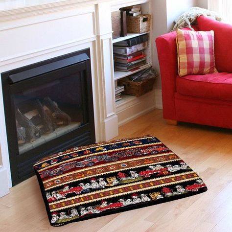 Fire House Stripe Pet Bed Pillow Products Outdoor Dog Bed