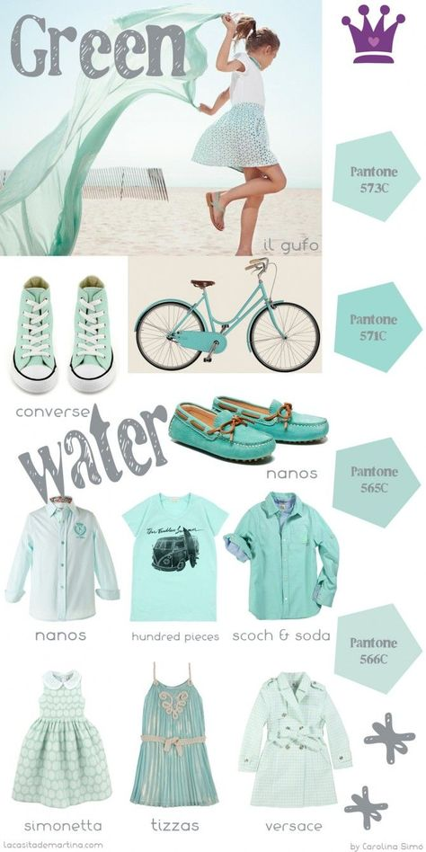 ♥ GREEN WATER colores Tendencia Moda Infantil ♥ #childrenFashion #Trends