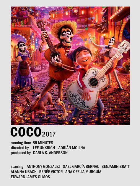 Coco alternative minimalist movie poster