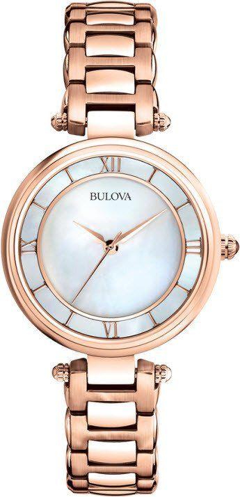 500f56f3f @bulova Watch Ladies #2015-2016-sale #bezel-fixed #black-friday-special  #bracelet-strap-gold #brand-bulova #case-depth-7-1mm  #case-material-rose-gold ...