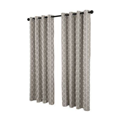Mercury Row Magana Geometric Semi Sheer Grommet Curtain Panels