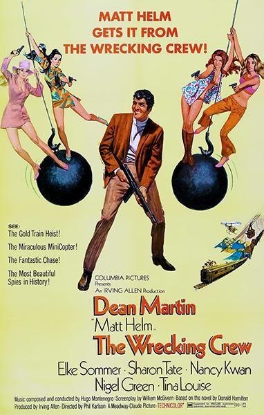 The Wrecking Crew 1969 Movie Poster Dean Martin Movie Posters Movie Posters Vintage